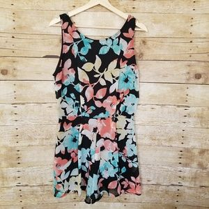 Lush Romper Black with Floral